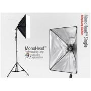 Lampa typu SOFTBOX 50x70 MonoHead na 1 żarówkę e27, statyw 230cm