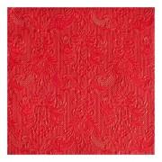 Ambiente 30x Luxe servetten barok patroon rood 3-laags - Feestservetten