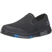 Skechers Men's Go Walk Flex Black and Blue Nordic Walking Shoes - 10 UK/India (45 EU)(11 US)