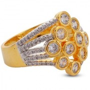 Tistabene Retails Contemporary Modern Style Gorgeous Designer Gold Plated Cocktail Ring For Women and Girls (RI-0669)