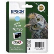 Epson T0795 LC -C13T07954010, Ljus Cyan Bläckpatron, Original