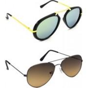 Hrinkar Wrap-around Sunglasses(Silver, Grey)