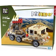 Joc constructie, My Army, Camion militar cu lansator rachete, 210 piese Blocki