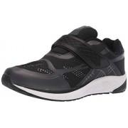 Propét Propet One Strap Zapatillas para Hombre, Negro/Gris Oscuro, 14 US