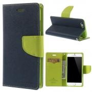 Mercury Pouzdro / kryt pro Apple iPhone 6 / 6S - Mercury, Fancy Diary Navy/Lime