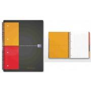 Caiet A4, spirala dubla, 100 file - 80g/mp, coperta carton, OXFORD Filingbook - matematica