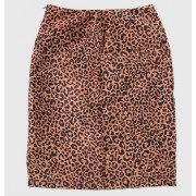 sukně dámská HEARTBREAKER - Brown - PS - Cheetah