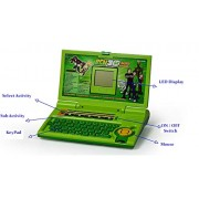 TanMan English Learner Battery Opertaed Educational Laptop Toy for Kids with 20 Different Activities (Green)