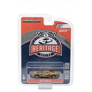 Kit Toy Car Diecast Greenlight 1:64 Heritage Racing Series 1 - 2017 Ford Gt 1966 #2 Gt40 Mk Ii Tribute Gold Color Limited Edition