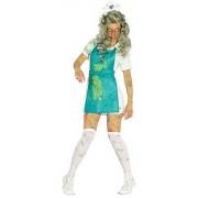 Fancy Me Disfraz de Enfermera Zombie Bio-Hazard para Mujer, UK 16-18