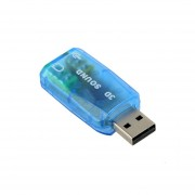 EW USB 1.1 Mic/Speaker Surround Sound 7.1 CH 3D Audio Card Adapter For PC Laptop