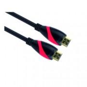 Кабел VCom CG525, от HDMI(м) към HDMI(м), 1.8м, черен позлатени конектори