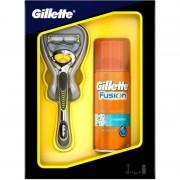 Gillette Fusion Proshield Razor & Shaving Gel 75 ml + 1 st Rakhyvlar och Rakskum