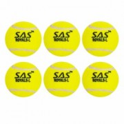 SAS Professional Playing level - For Unisex Cricket Tennis Ball (Pack of 6) (Yellow)