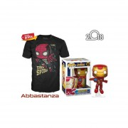 Iron Man Y Playera De Iron Spider Funko Pop Avengers Infinity War