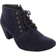 Exotique Women's Blue Casual Boot (EL0040BL)