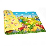 Double Sided Water Proof Baby Mat Carpet Baby Crawl Play Mat Kids Infant Crawling Play Mat Carpet Baby Gym Water Resistant, Set of 1(Color and Design May Vary)(Size - 150 * 180 cm)