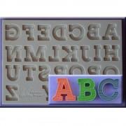 Mulaj Silicon Alfabet cu Dungi, h 2.1 cm