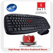 iBall Dusky Duo 06 Wireless Wifi Cordless Keyboard Mouse 2.4Ghz