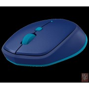 Logitech M535, Bluetooth Mouse, 1000dpi, blue/silver-yellow
