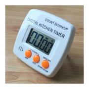 Cocina Temporizador Electrónico Digital Alarma Fuerte Respaldo Magnético Con El Titular Para Cocinar, Hornear Juegos Deportivos Office (naranja)