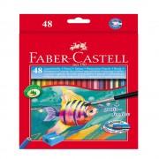 Creioane colorate acuarela si pensula 48 culori/set FABER-CASTELL, FC114448