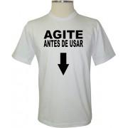 Camiseta Agite Antes de Usar - Coleção Frases