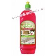 Soft Power mosogatószer 1 l málna illattal