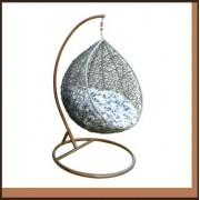 Závěsné křeslo vajíčko COCOON 223131 šedá