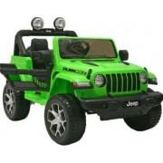 Masinuta electrica 4x4 Premier Jeep Wrangler Rubicon 12V roti cauciuc EVA scaun piele ecologica verde