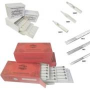MUMBAI TATTOO NEEDLES 5M1 7M1 9M1 ROUND MAGNUM LINER SHADER WITH TIPS 5MFT 7MFT 9MFT (PACK OF 3 RED BOX BOX 3 TIPS)