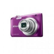 "Nikon CoolPix A100 (лилав) в комплект с калъф Case Logic и карта 8 GB, 5x Zoom, 20,1 Mpix, 2.7"" (6.8 cm) LCD, SD/SDHC/SDXC слот, micro USB"