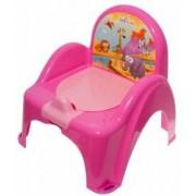 Olita mini toaleta muzicala Safari Jungle Roz copii bebelusi