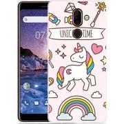 Nokia 7 Plus Hoesje Unicorn Time