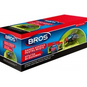 Спирала-капан с лепило за мухи и други летящи насекоми Брос - 12 х 4 бр.
