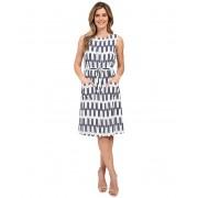 Pendleton Flora Dress Indigo Arrow Stripe Print