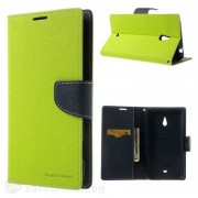 Калъф страничен флип модел GOOSPERY, марка Mercury за Nokia Lumia 1320 - зелен