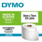 Etichete termice DYMO LabelWriter multifunctionale permanente 54mmx70mm hartie alba 1 rola cutie 320 etichete rola 99015 S0722440