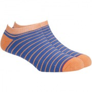 Soxytoes Sport Stripe Thin Blue Cotton Ankle Length Pack of 1 Pair Striped for Men Athletic Sports Socks (STS0031A)