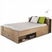 Ágy fiókokkal, 140x200, sonoma tölgyfa, ROKET