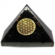 Orgonite Piramide Shungiet - Flower of Life - (70 mm)
