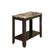 ACCENT TABLE - CAPPUCCINO MARBLE TOP