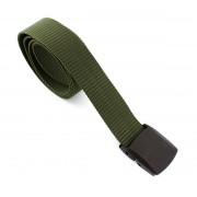 Curea centura tactica textila, tip militar, cu catarama din plastic, lungime 110cm, kaki
