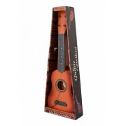 4 String Wooden Finish Acoustic Musical Guitar with Adjustable Tuning Knobs (Multicolor)