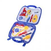 Magideal Hospital Medical Kit Preschool Kids Doctor Nurse Pretend Play Toys Blue