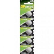 Gp Batteries Blister 5 Batterie Litio a Bottone CR2025