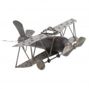 Decoratiune avion din lemn si metal