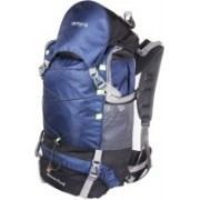 Remyra Mountaineering Backpack Hiking 65 L Trekking Bag with Rain Cover Travel Bags Rucksacks for Men Women Outdoor (Navy Blue) Rucksack - 65 L(Blue, Black)