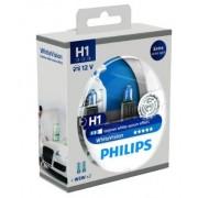 Set 2 Becuri auto cu halogen pentru far Philips H1 White Vision, 12V, 55W