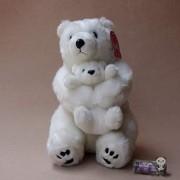 Hoptar Mother and Baby Polar Bear Doll Simulation Bears Plush Toys